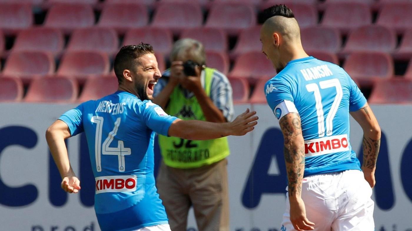 Serie A, le pagelle di Napoli-Cagliari 3-0: Hamsik ritrovato, Mertens rapace