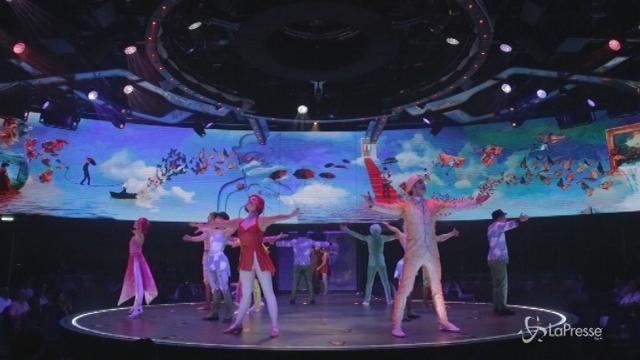 Lo spettacolo in mare aperto del Cirque du Soleil