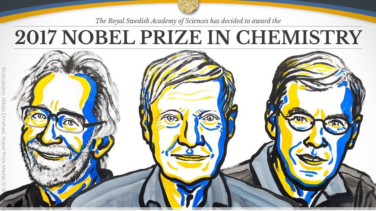 Nobel Chimica assegnato a Dubochet, Frank e Henderson per la crio microspia