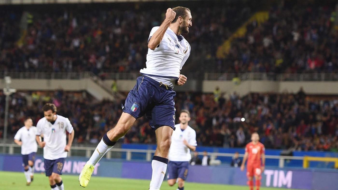 Qualificazioni Mondiali 2018, le pagelle di Italia-Macedonia 1-1: si salva solo Chiellini