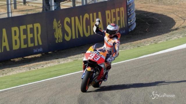 MotoGP: Marquez trionfa a Aragón