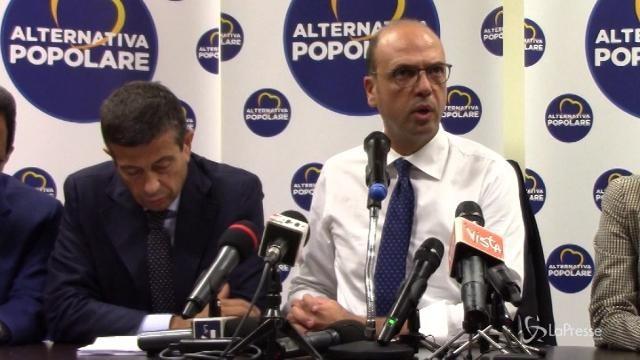 """Alfano: """"Errore votare adesso Ius Soli"""""""