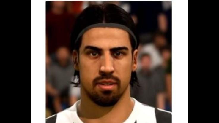 """Khedira con capelli lunghi in Fifa18. Lui: """"Sono corti da 2 anni"""""""