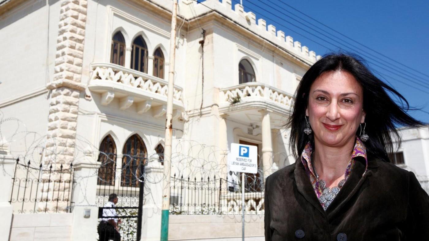 """Giornalista uccisa a Malta, il figlio: """"È colpa dello Stato corrotto"""""""