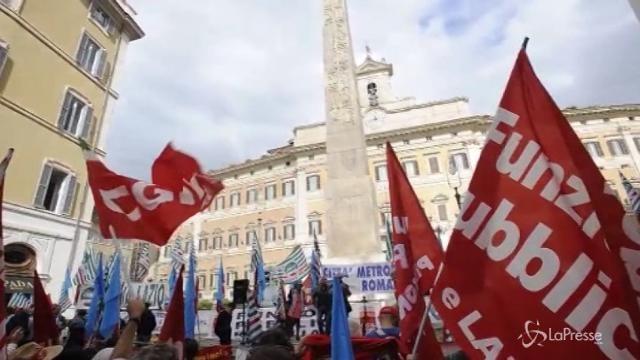 A Roma la manifestazione dei dipendenti di Province e Città metropolitane