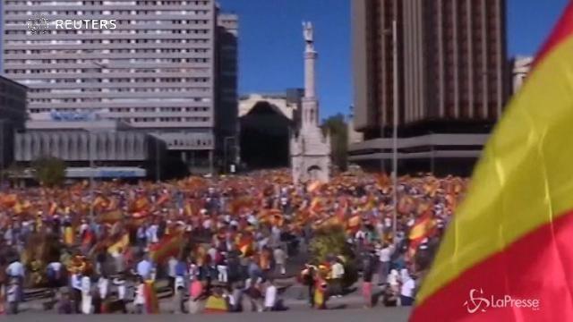 Madrid, migliaia in piazza in difesa dell'unità della Spagna
