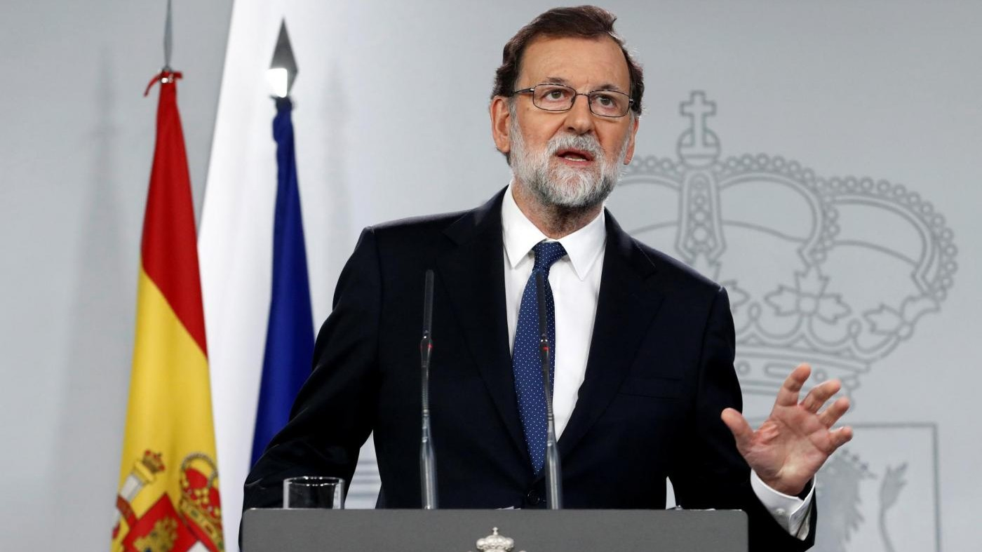 "Catalogna commissariata, Rajoy: ""Destituire Puigdemont e nuove elezioni entro 6 mesi"""