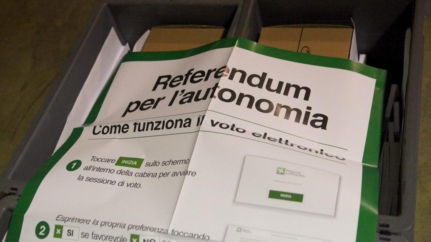 Referendum per l'autonomia. Il voto in diretta: Lombardia