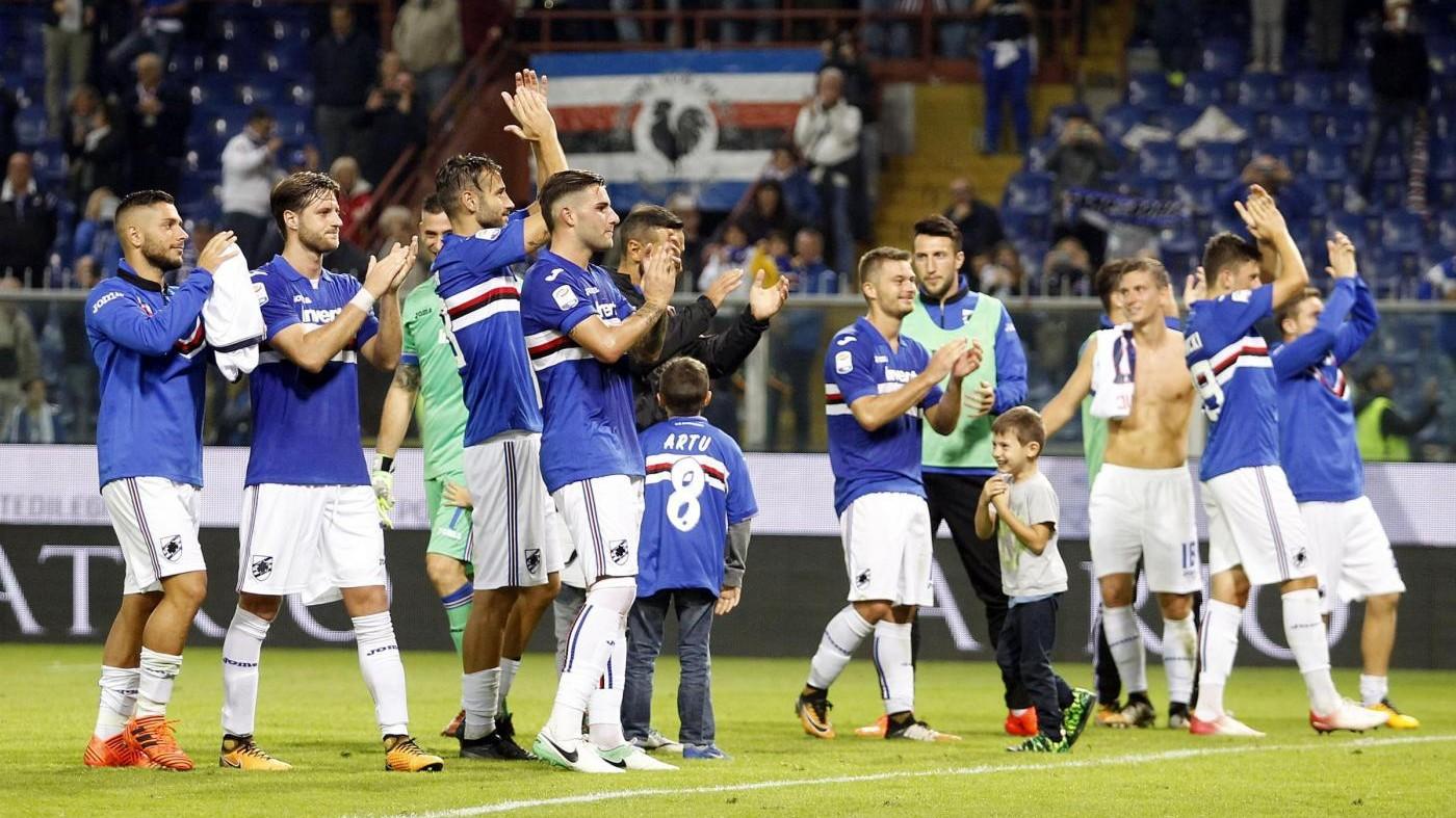 Serie A, 'manita' della Samp al Crotone: blucerchiati al 5° posto