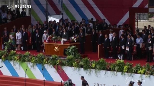 Taiwan, il discorso di Tsai Ing-wen sulla difesa di libertà e democrazia