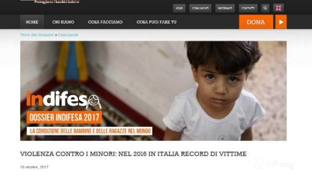 Allarme in Italia per la violenza sui minori