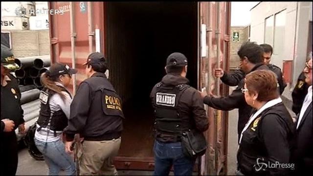 Perù, maxi sequestro di droga destinata al Messico
