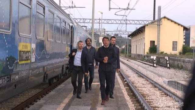 Arquata, la visita di Renzi al cantiere della nuova fabbrica Tod's