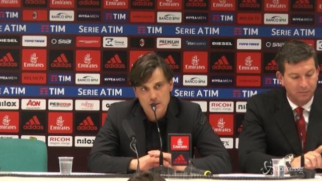 """Milan, Montella su Bonucci: """"Io ho fatto una carriera sgomitando"""""""