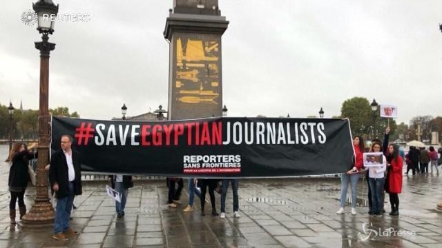 Al-Sisi a Parigi, la protesta di Reporter Senza Frontiere