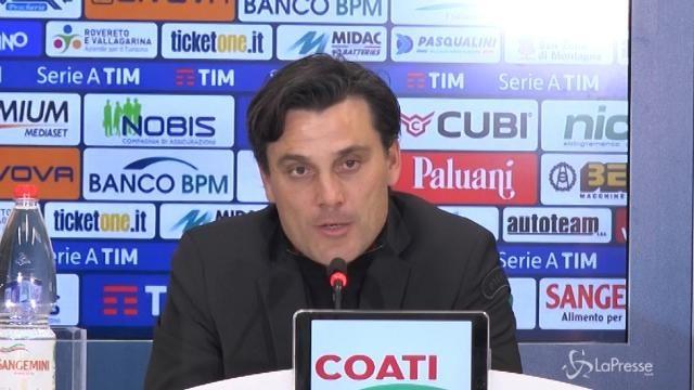 """Montella: """"Soddisfatto dello spirito del Milan"""""""