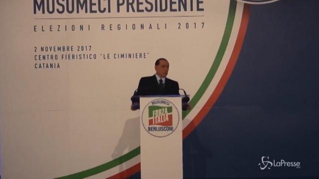 """Regionali Sicilia, Berlusconi: """"5 Stelle giustizialisti e opportunisti"""""""