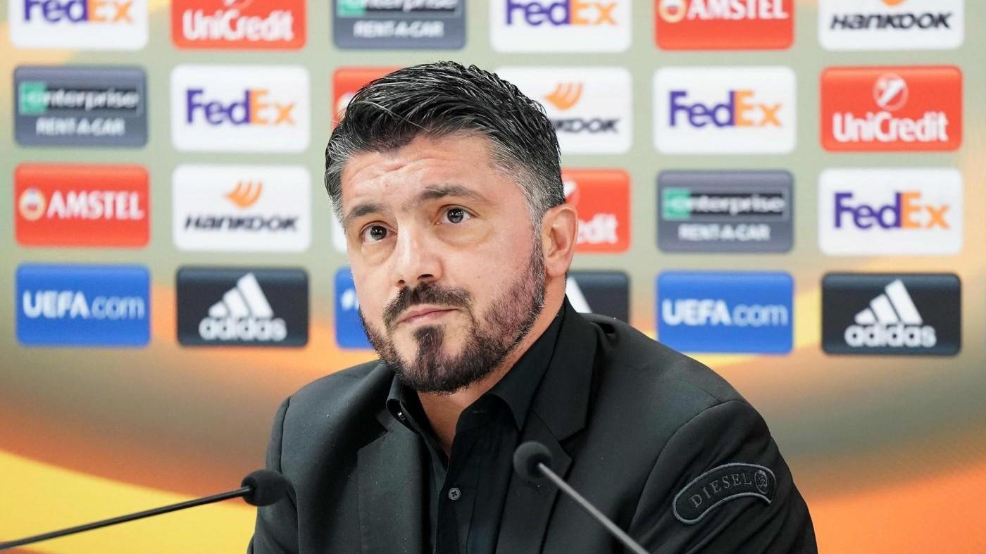 """Europa League, Gattuso carica il Milan: """"Contro Rijeka per vincere"""""""