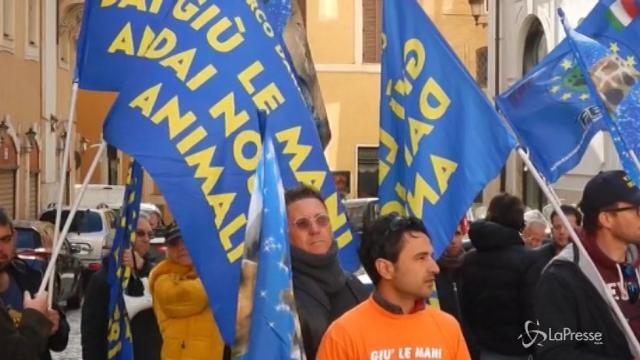 Il circo protesta a Montecitorio