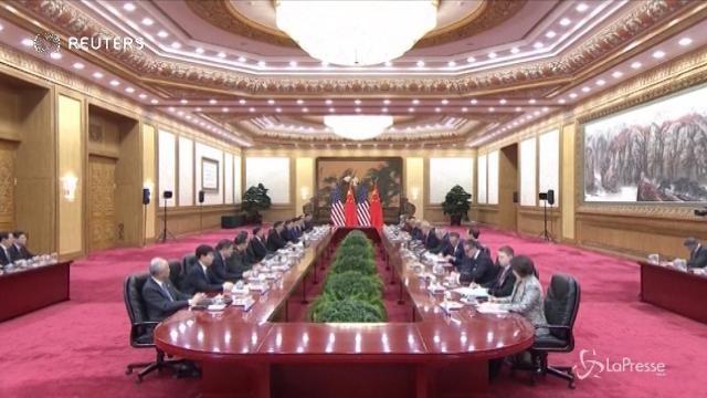 Trump in Cina da Xi: attrito su Nord Corea e rapporti economici