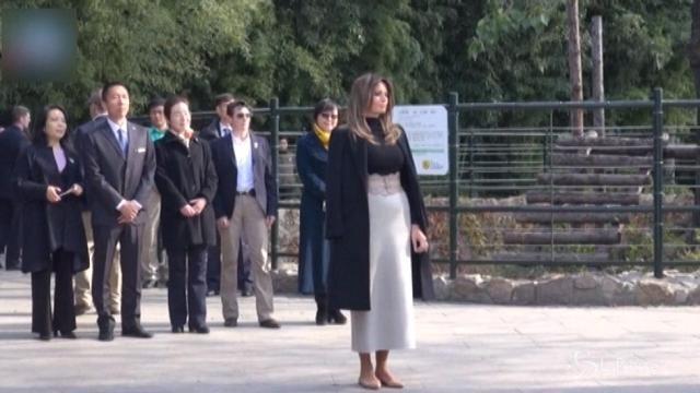 Melania Trump visita i panda di Pechino