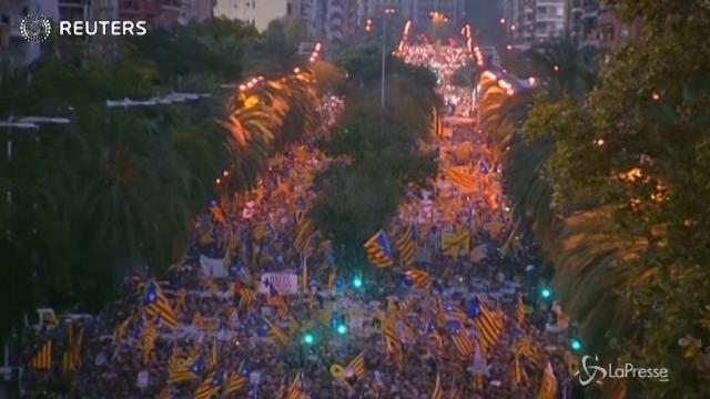 Catalogna, la marcia degli indipendentisti