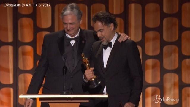 Governors Awards, Inarritu sul palco a ritirare il premio