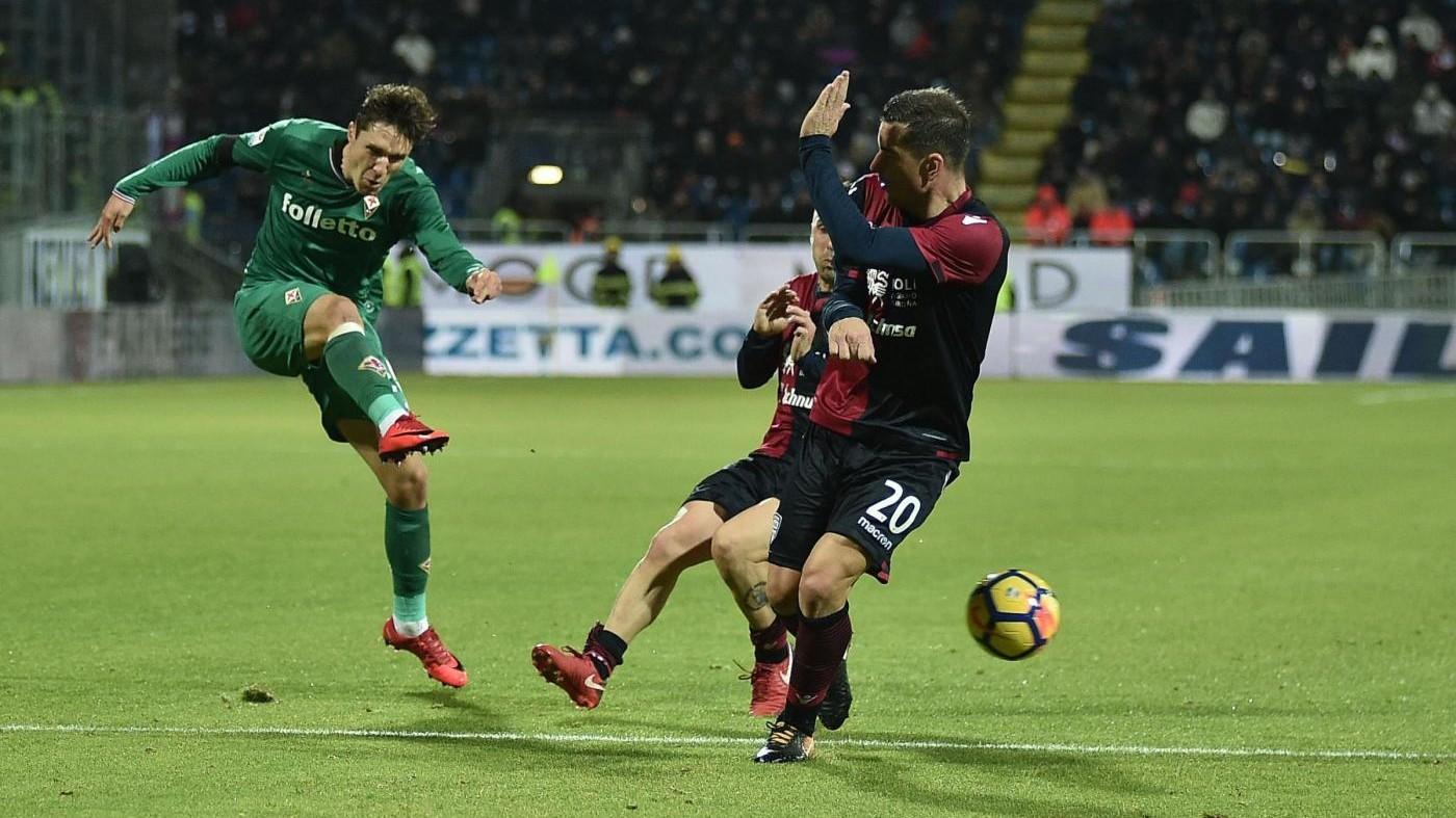 Babacar gol, la Fiorentina ora corre. Il Cagliari non riesce più vincere