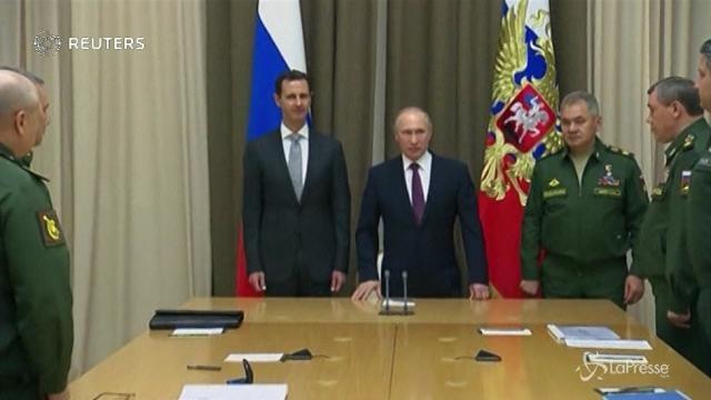 """Putin: """"Le basi in Siria rimarranno anche dopo la guerra"""""""