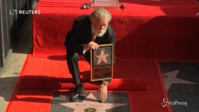 Nick Nolte entra nella Walk of Fame di Hollywood