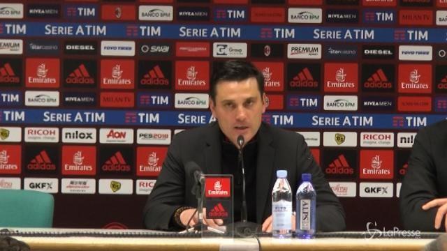 """Calcio Milan, Montella: """"Ottima partita, ci serve un po' di serenità"""""""