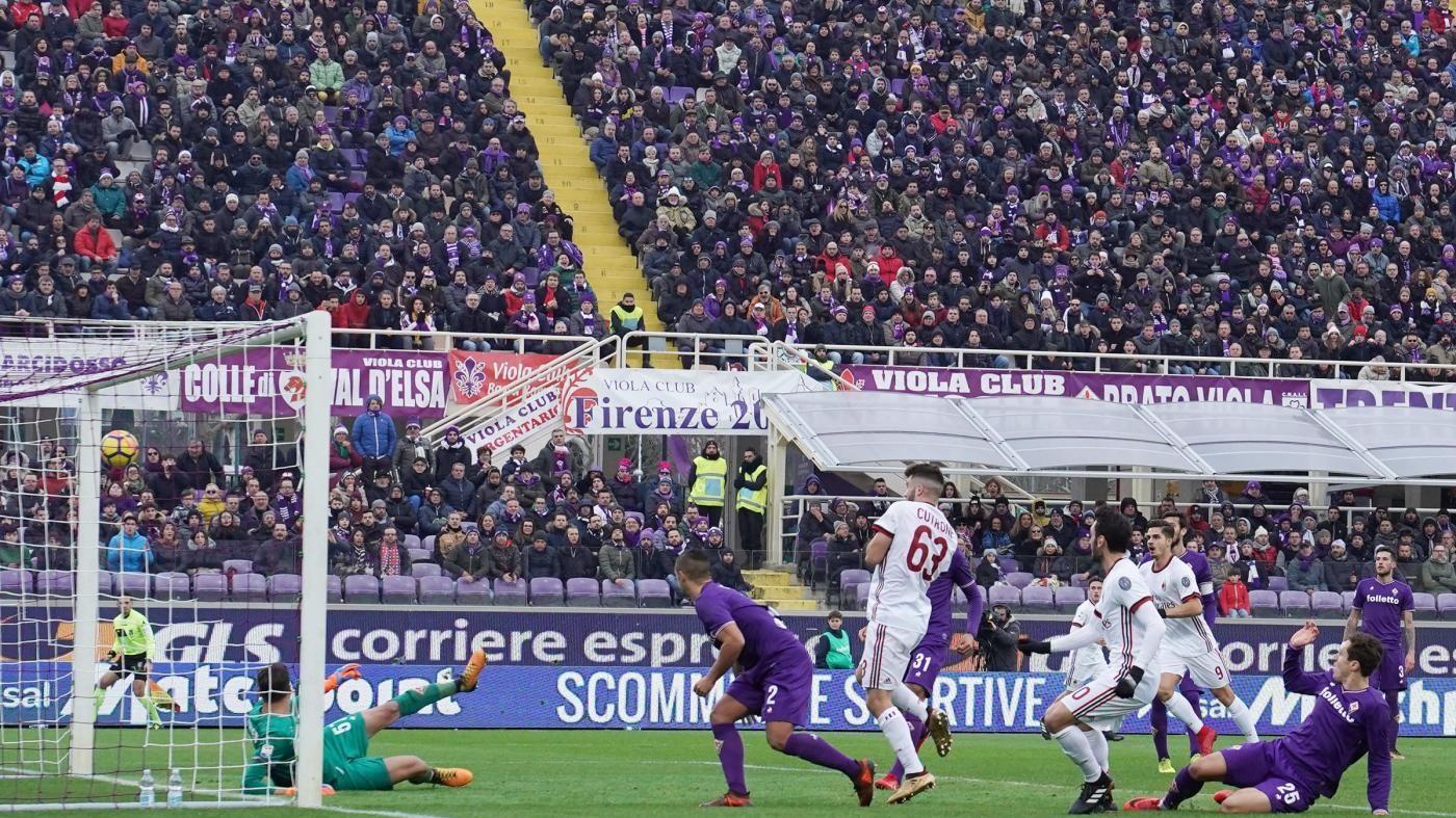 Serie A, Calhanoglu replica a Simeone: Fiorentina-Milan 1-1