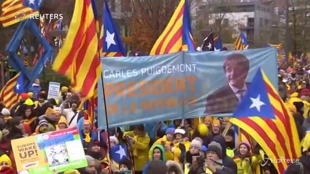 Bruxelles, in 45 mila alla manifestazione per l'indipendenza della Catalogna