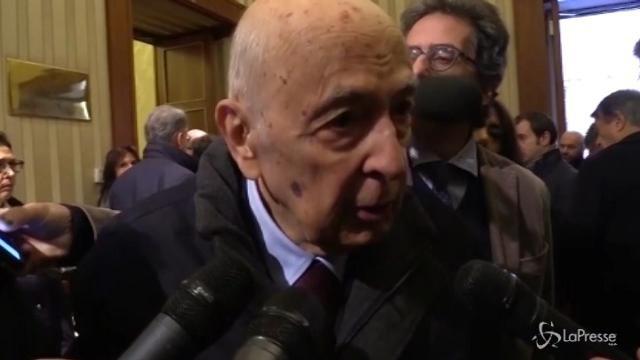 Camera ardente Matteoli, l'omaggio di Napolitano