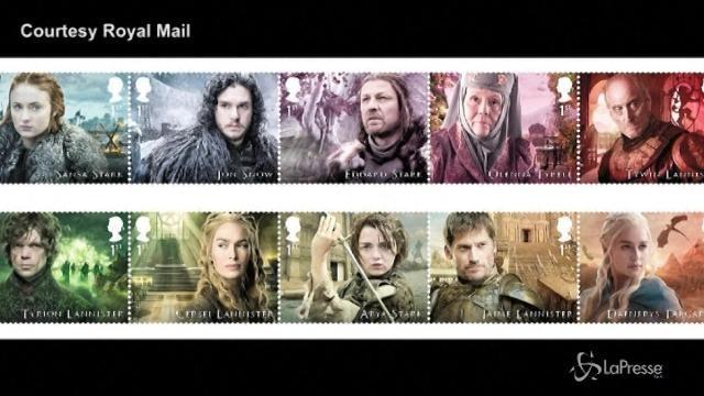 Ecco i francobolli con i protagonisti di 'Game of Thrones'