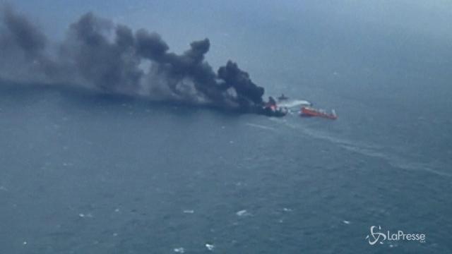 Petroliera iraniana affonda nel mar della Cina