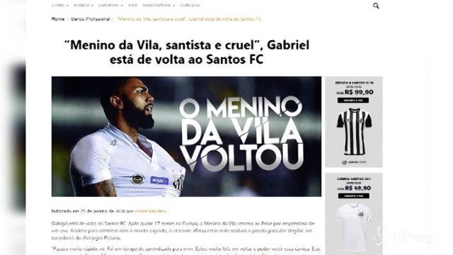 Gabigol torna al Santos