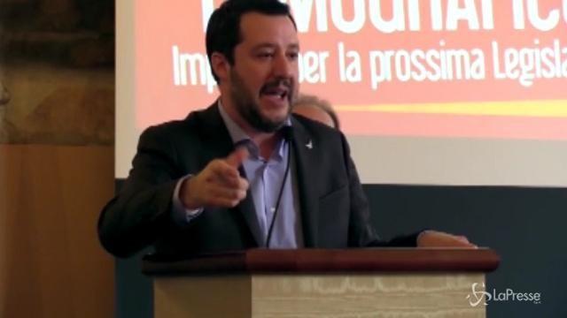 """Salvini: """"Non chiedo voti, voglio conquistare cuori"""""""
