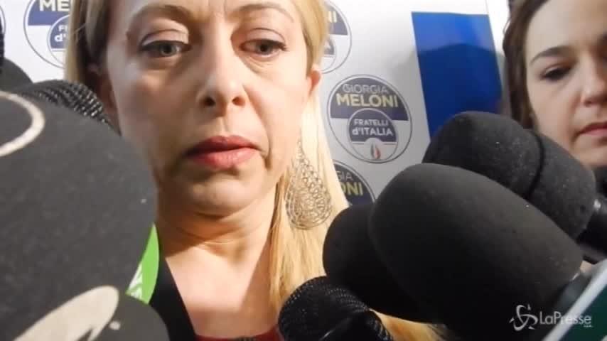"""Patto anti-inciucio, Meloni: """"Sono perplessa per l'assenza di Berlusconi e Salvini"""""""