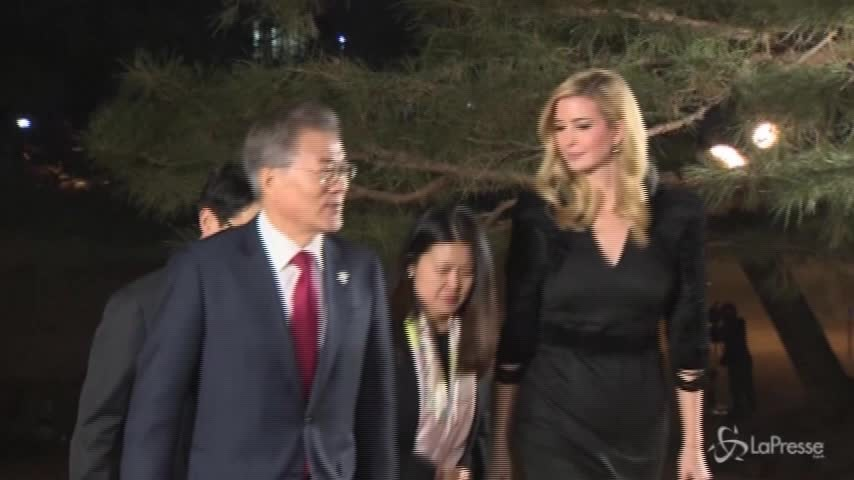 Il benvenuto di Seul a Ivanka Trump