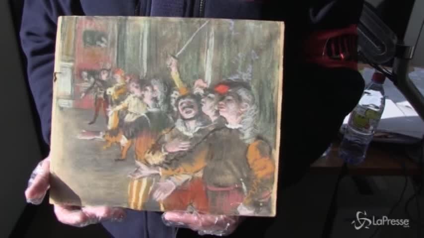 Parigi, un Degas rubato ritrovato nel portabagagli di un bus
