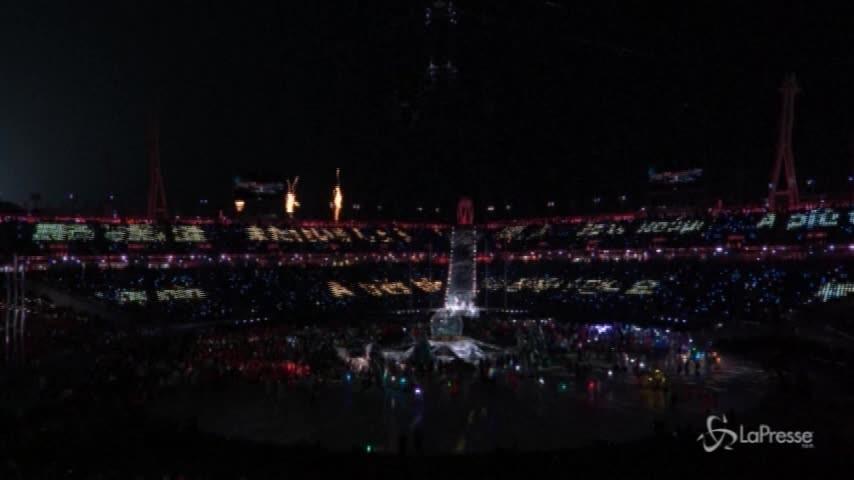 Le Olimpiadi di Pyeongchang chiudono i battenti
