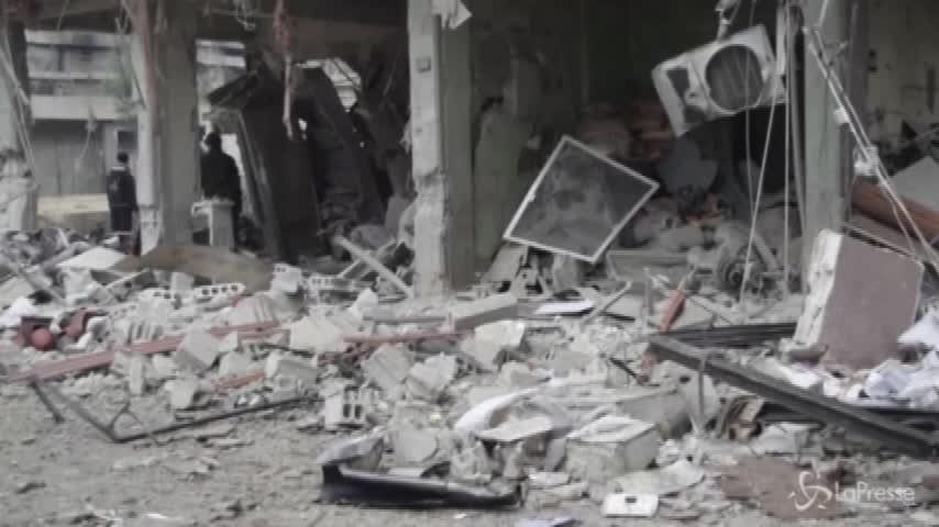 Siria, nella Ghouta solo distruzione e macerie
