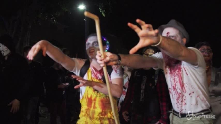 Gli zombie invadono Tel Aviv per la festa del Purim