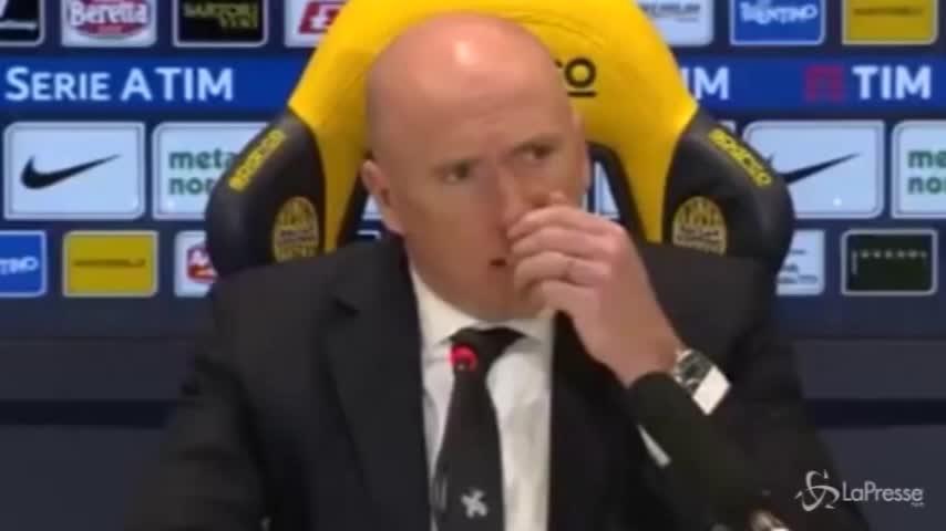"""Chievo, Maran: """"Grande equilibrio, poi siamo andati in ansia"""""""