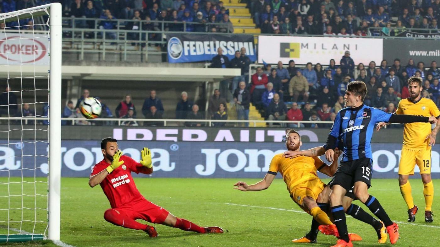 Serie A, Atalanta cala tris al Verona: Var annulla due gol