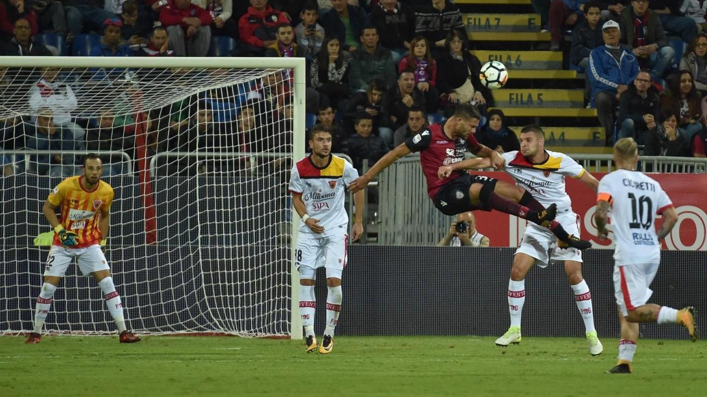 Serie A, Pavoletti gol al fotofinish: Benevento beffato, Cagliari esulta