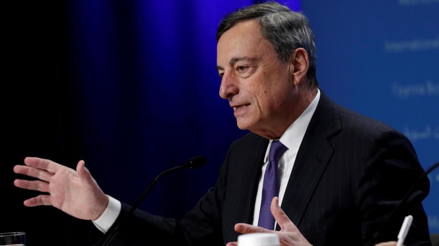 """Draghi: """"Quantitative Easing ridotto da gennaio del 2018"""""""