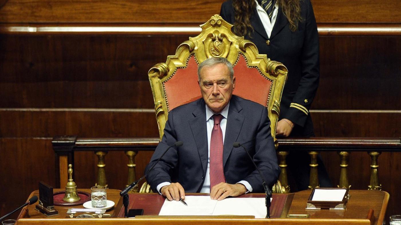 Grasso lascia il gruppo Pd al Senato a poche ore dall'approvazione del Rosatellum