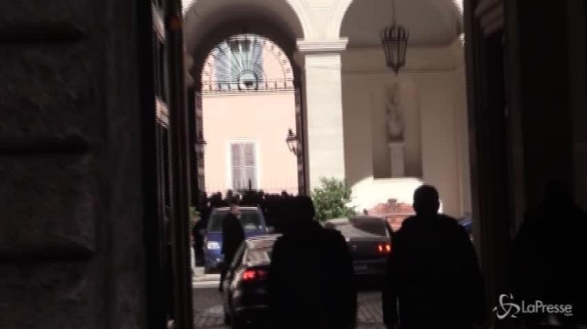 I leader di centrodestra arrivano a Palazzo Grazioli